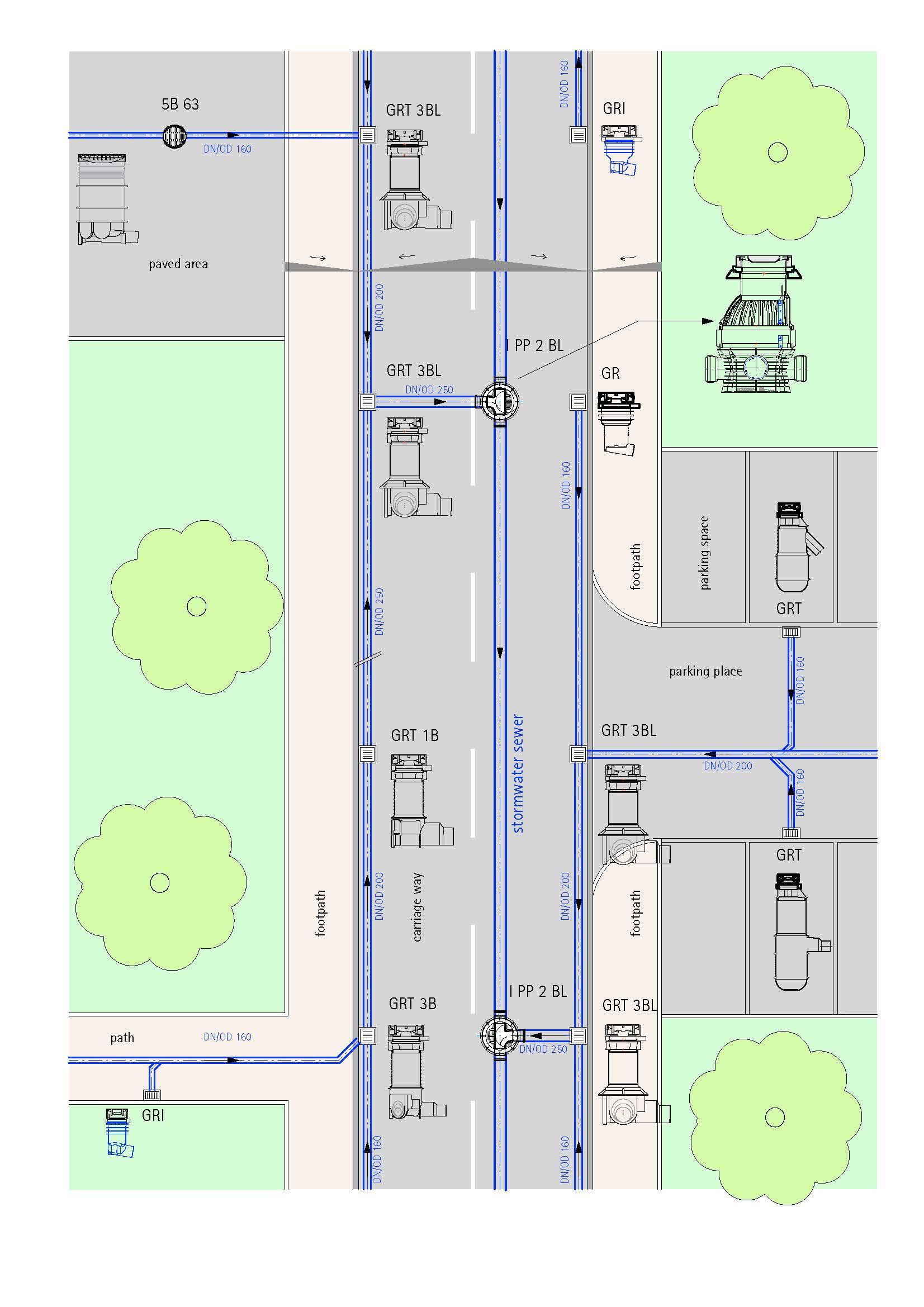Straßenabläufe-System-Lageplan-Kurztext-2-EN